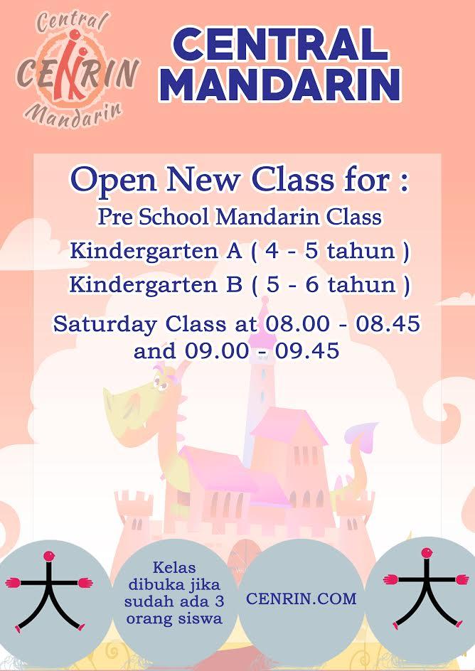 Buka Pre School Mandarin Class Umur 4 - 6 Tahun